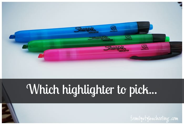 Highlighter selection guide