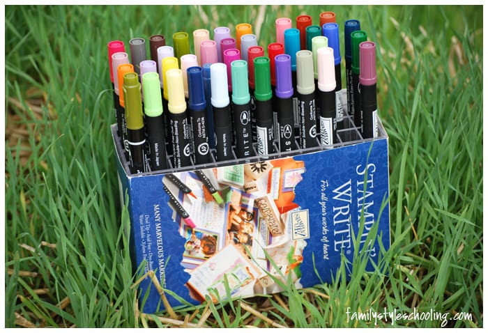 Highlighting with Stampin Up Markers