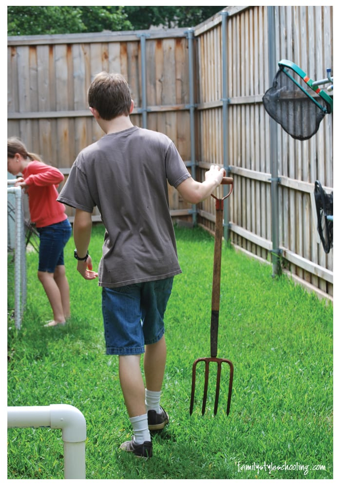 compost turning son