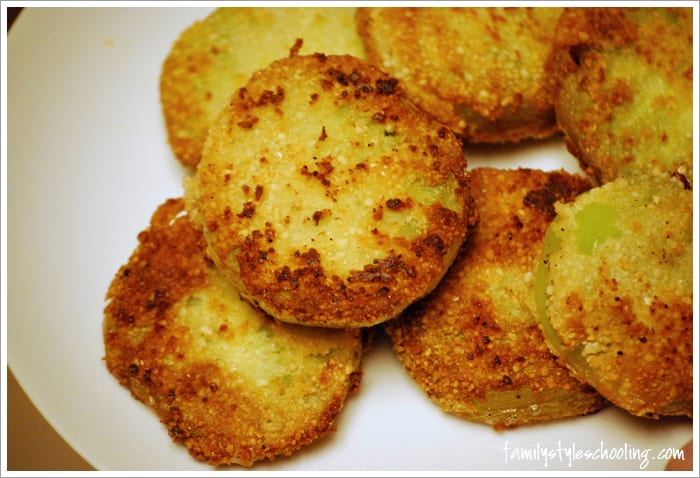 fried green tomatoes ready to eat