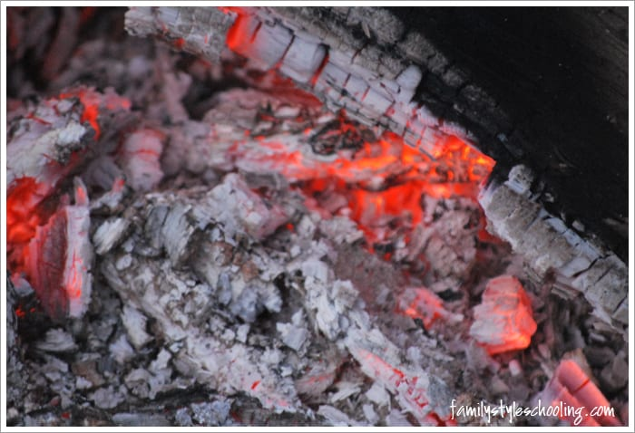 spiritual applications from a campfire