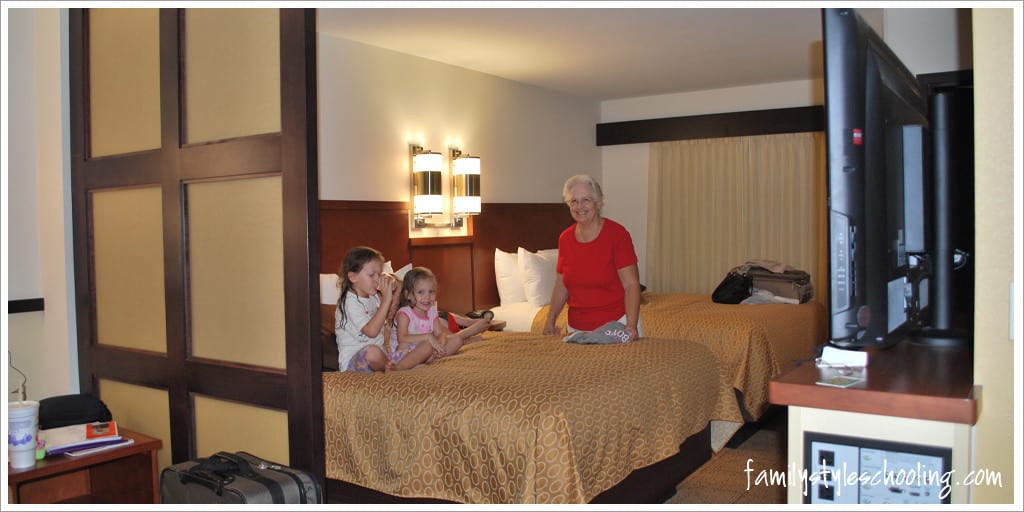 When you travel with six, it's nice to find suites where everyone can rest comfortably.