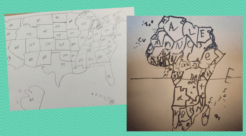 Drawing the USA and Africa