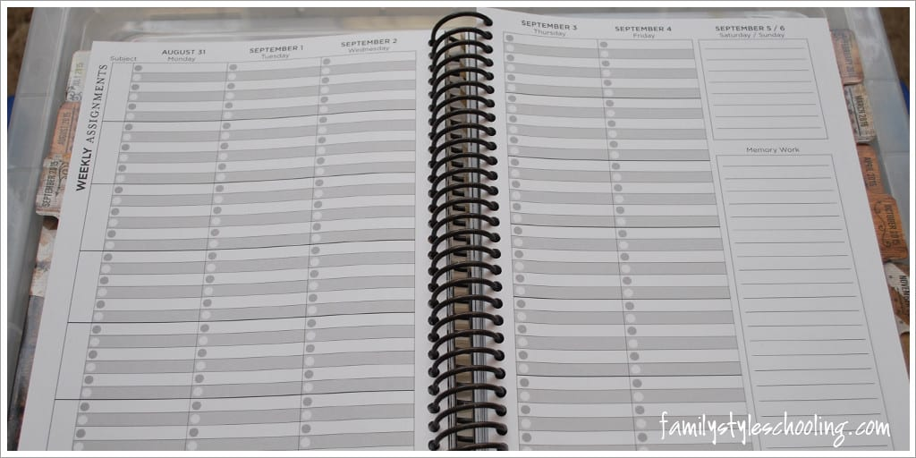a simple plan planner weekly assignments