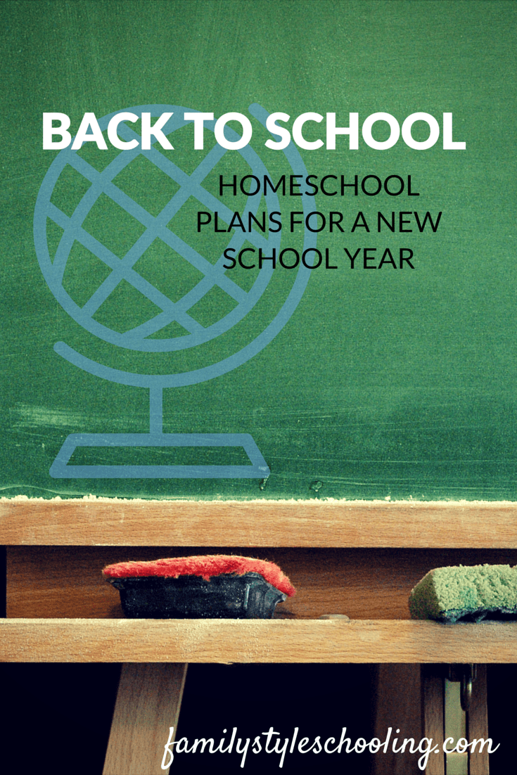 Plans for a homeschooling year