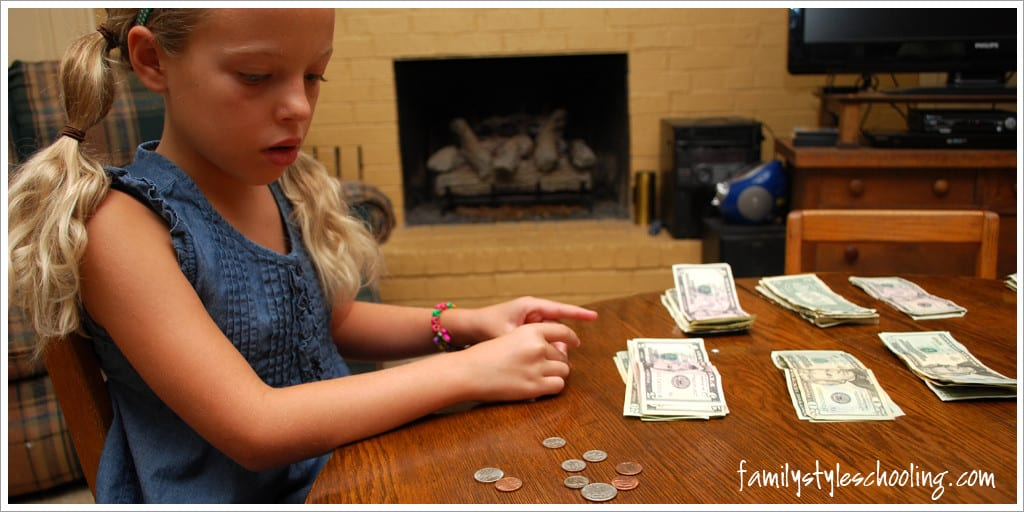 counting money for a road trip
