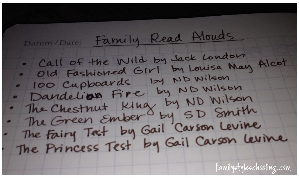 read aloud list this year