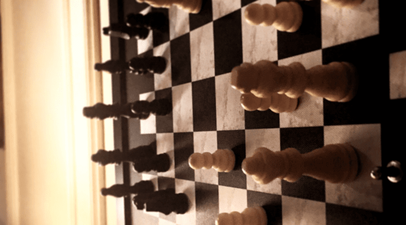 chess board hanging on the wall