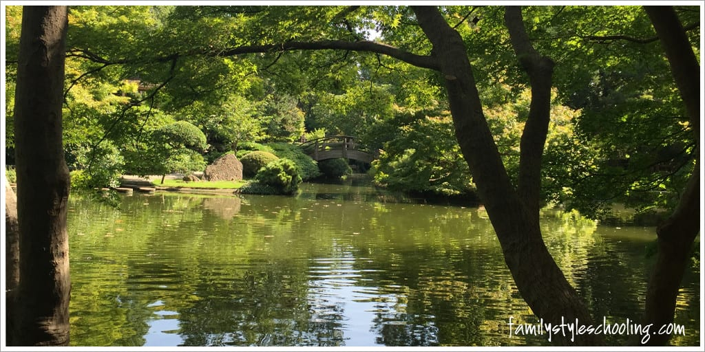 arched bridge at FW Japanese Gardens