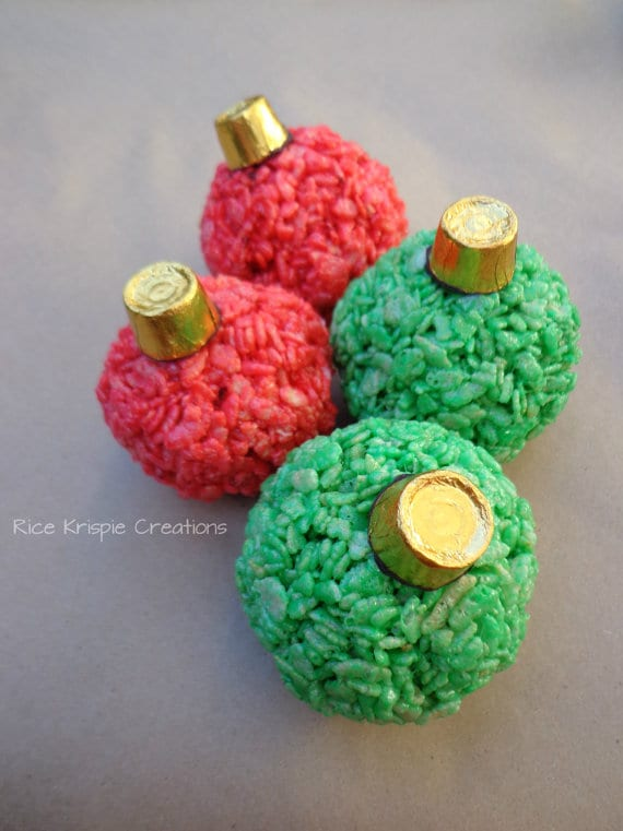 Christmas Sweets Rice Crispy Ornaments