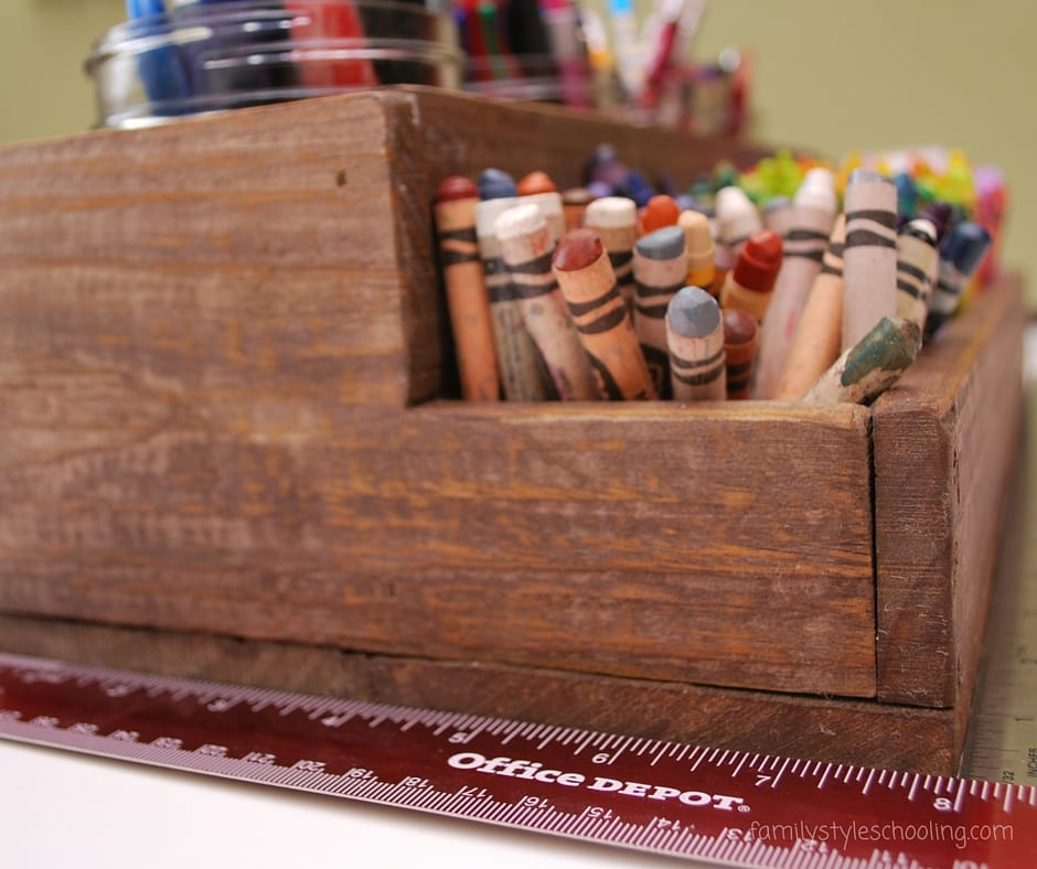 How to make a upcycled wooden pen caddy