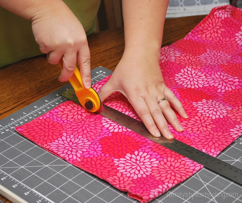 Cutting out fabric for beginners