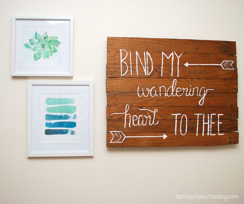 tween bedroom wall art