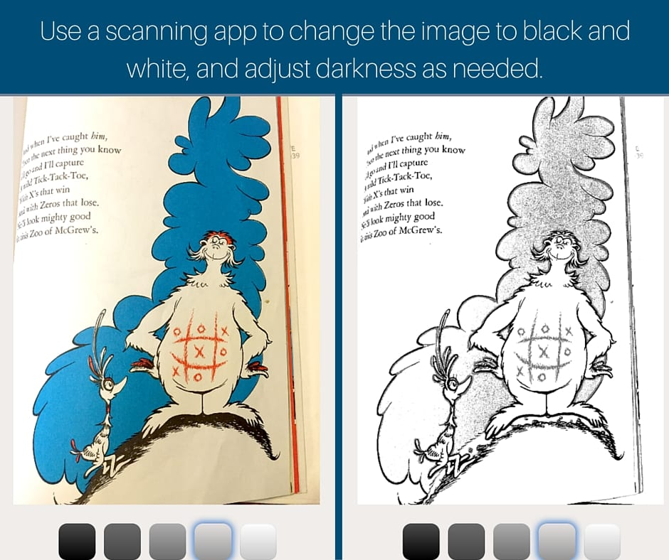 Making a coloring page out of a scan