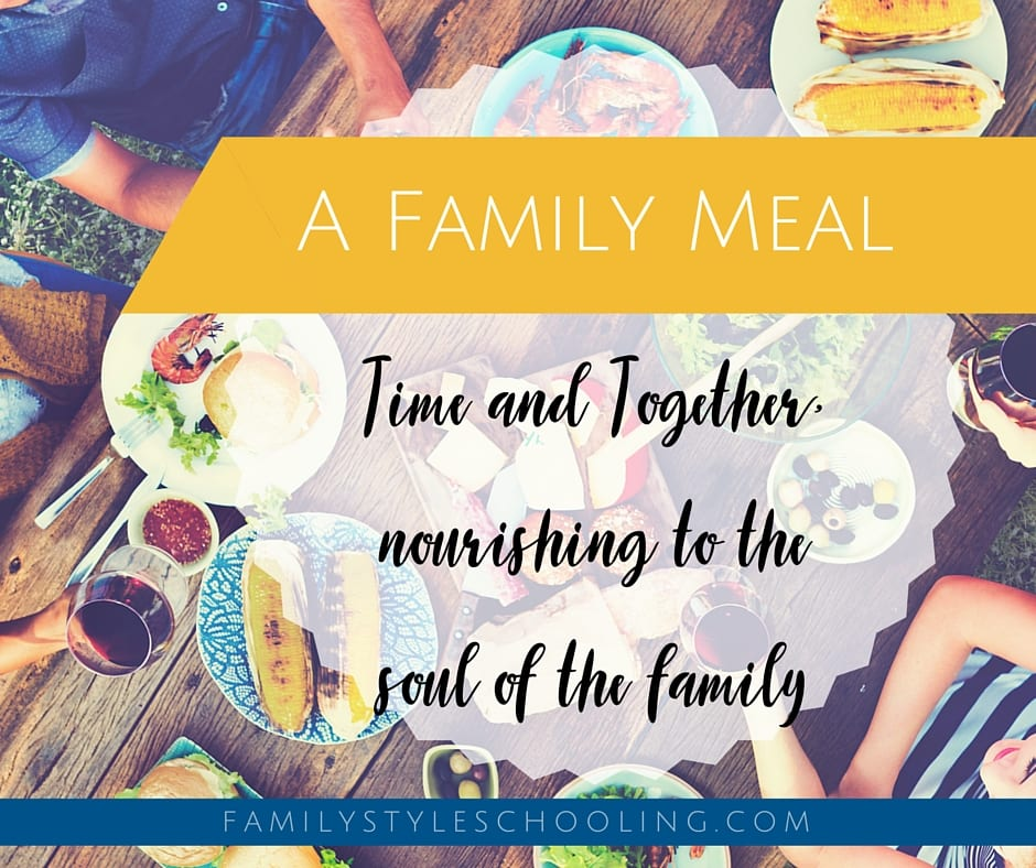 A family meal nourish the soul of the family