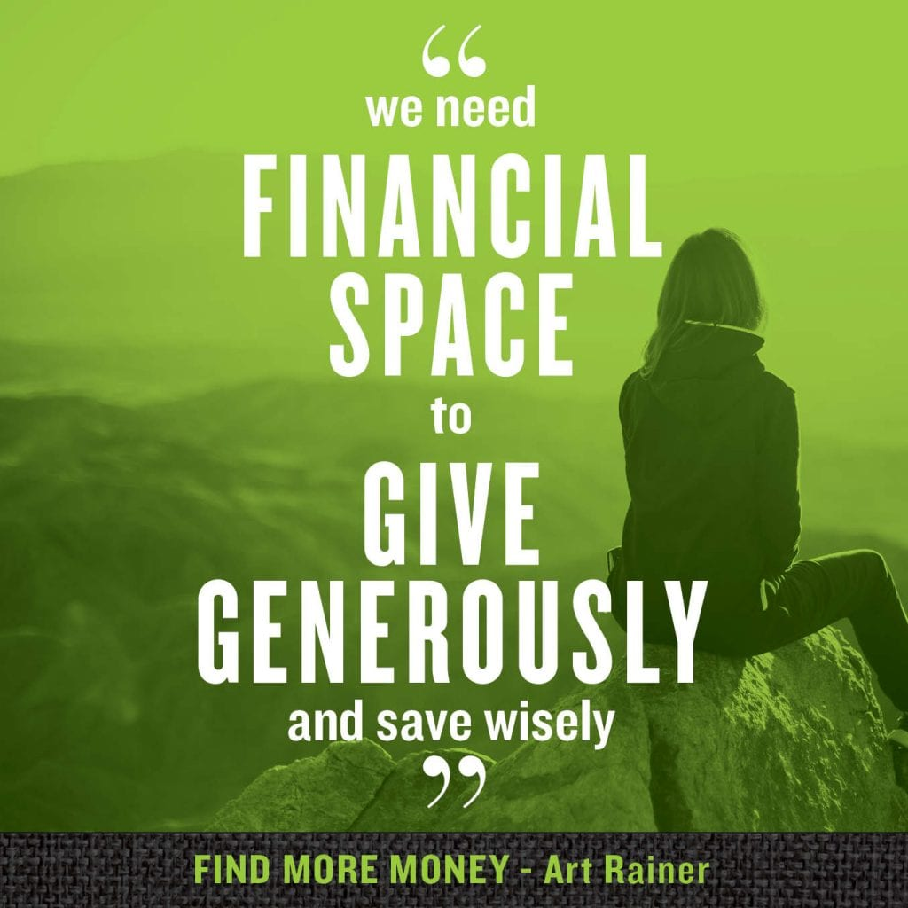 financial space to give generously