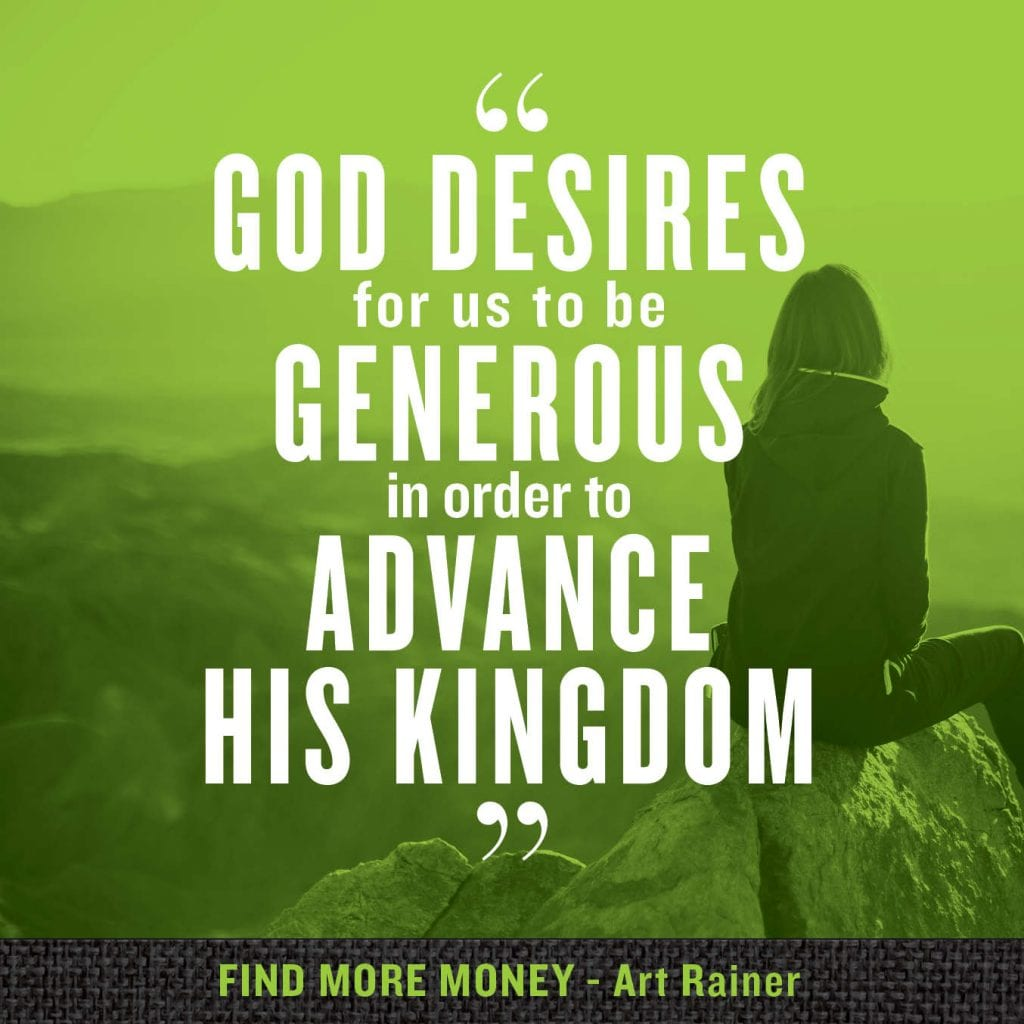 God desires us to be generous